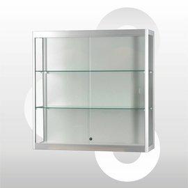 Wandvitrine 100 x 30 x 100 Geanodiseerd aluminium