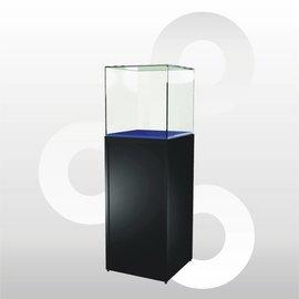 Sokkelvitrine SV1 500 zwart met stolp