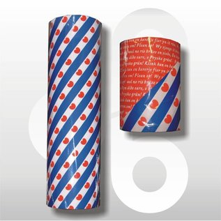 Friese vlag cadeaupapier 50 cm breed met Fries volkslied