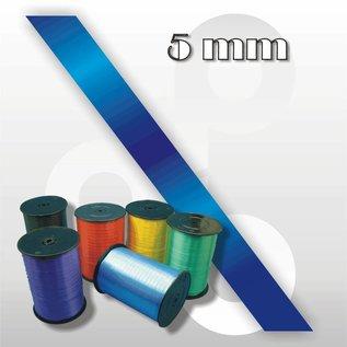 Donkerblauw krullint 5 mm breed 500 mtr.