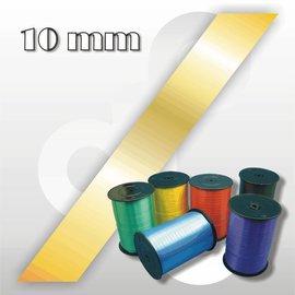 Mat-goud krullint 10 mm breed 250 mtr.