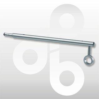 Combi-drager buis/hout mat-chroom 36 cm