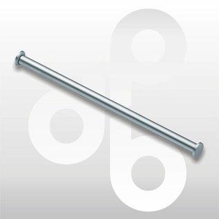 Buis mat-chroom L100 cm Ø 25 mm
