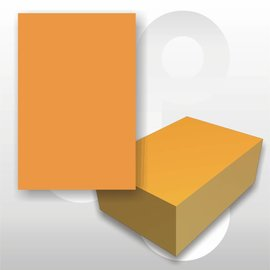 Prijskaart fluor oranje 4x6 cm