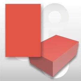 Prijskaart fluor rood 6x8 cm