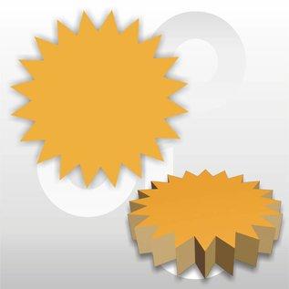 Ster fluor-oranje Ø15 cm,  pak à 50 stuks