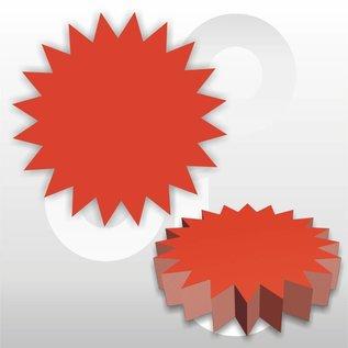 Ster fluor-rood Ø10 cm