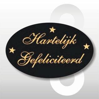 Sticker Hartelijk Gefeliciteerd