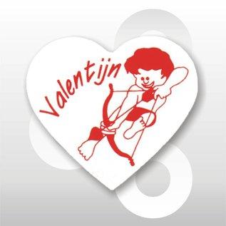 Sticker Valentijn-Hart