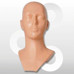 Kunststof hoofd huidskleur