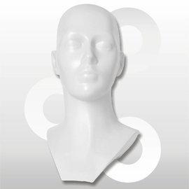 Kunststof hoofd wit