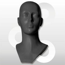 Kunststof hoofd grijs