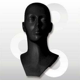 Kunststof hoofd zwart