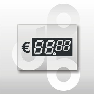 Digitale prijskaartjes tot € 100 Transparant 39 mm hoog 100 stuks
