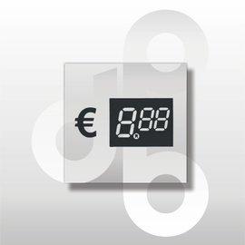 Digitale prijskaartjes tot € 10 Transparant 39 mm hoog 100 stuks