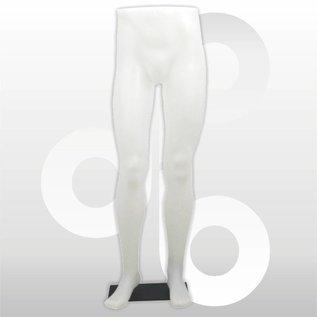 Herenbenenset wit op metalen voetplaat
