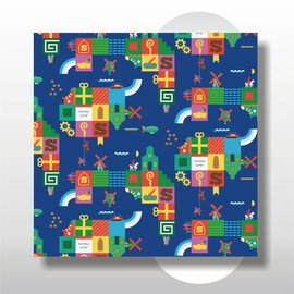 Sinterklaas papier 50 cm breed 200 mtr op rol