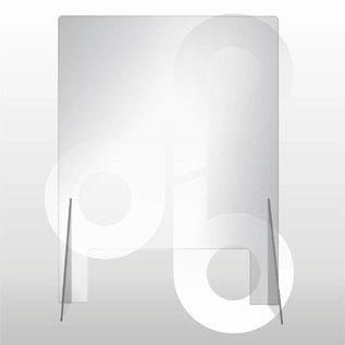 Kuchscherm 60cm breed 80cm hoog, transparant preventie scherm