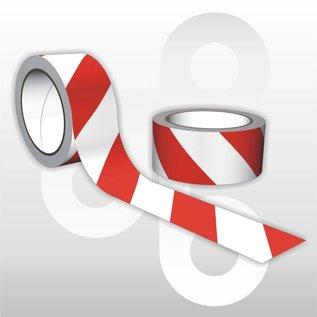Zelfklevende Markeertape rood/wit