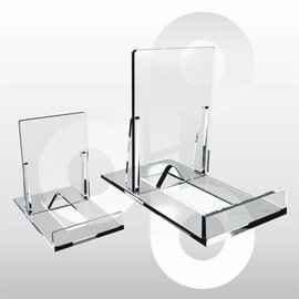 Schuifstandaard KLEIN transparant. 10 stuks