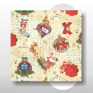 Kerst papier 50 cm breed 200 mtr rol