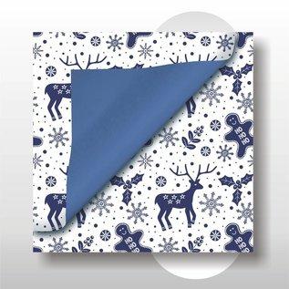 Kerst papier 30 cm breed 200 mtr rol