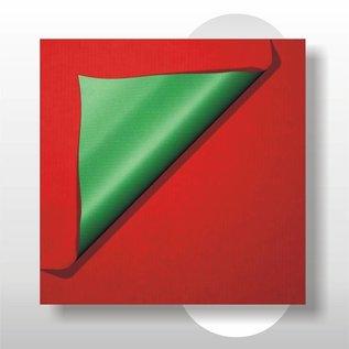 Kraft dubbezijdig rood /groen 50 cm 200 mtr