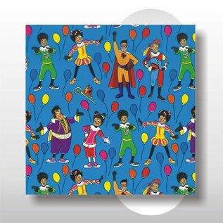 Club van Sinterklaas papier 50 cm breed 200 mtr op rol