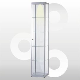 Vitrine 40 x 40 geanodiseerd aluminium