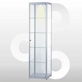 Vitrine 50 x 50 geanodiseerd aluminium