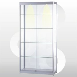 Vitrine 100 x 40 geanodiseerd aluminium