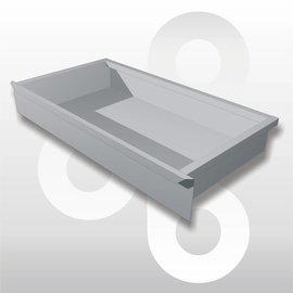 Voetdeel Schuiflade T47 L100 zilvergrijs
