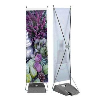 Banner op watervoet 600 x 1550 mm