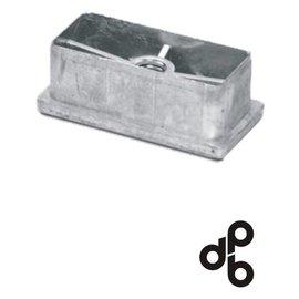 Aluminium dop voor koker 60/30 x 2