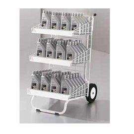 Verkoopwagen 'trolley' met 3 draadschappen 52x41x96 cm WIT