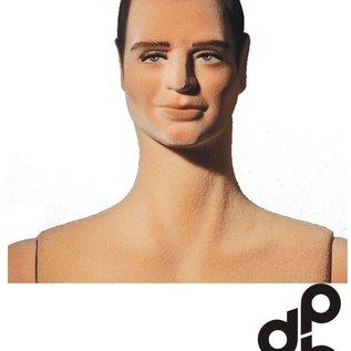 Flexibele Mannequin Bevlokt met skulptuurt haar