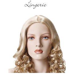 Mannequin Lingerie naturel met make-up en pruik