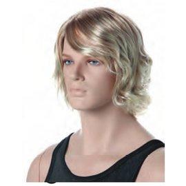 Pruik blond Marc voor etalagepop heer