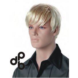 Pruik blond Luke voor etalagepop heer
