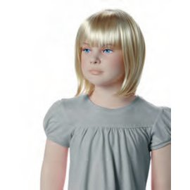 Pruik voor kinderetalagepop MINNIE blond