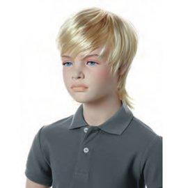 Pruik voor kinderetalagepop FRED blond