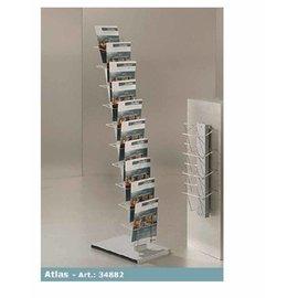 Folderstander Atlas 30*45*145 cm. 10 x A-4, vulhdiepte 3,5 cm