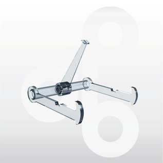 Bordenstandaard met 1 zwenkarm 80 mm. 6 stuks.
