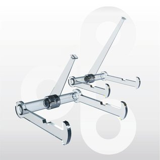 Bordenstandaard met 1 zwenkarm 110 mm. 6 stuks.