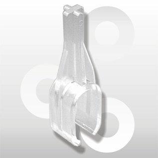 Buisklem voor plat ovale buis 15 * 30 mm, transparant