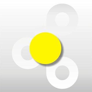 Fluor etiket Geel 25 mm