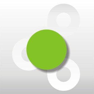 Fluorsticker Groen 35 mm