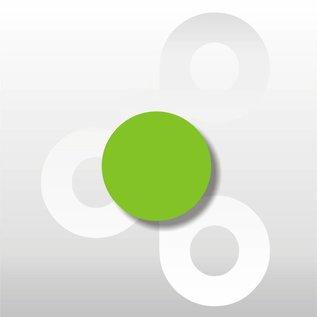 Fluor etiket Groen 25 mm