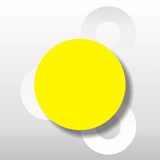 Fluorsticker Geel 50 mm