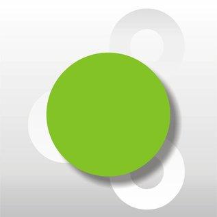 Fluorsticker Groen 50 mm